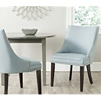 Safavieh Mercer Collection Afton Side Chair, Light Blue, Set of 2