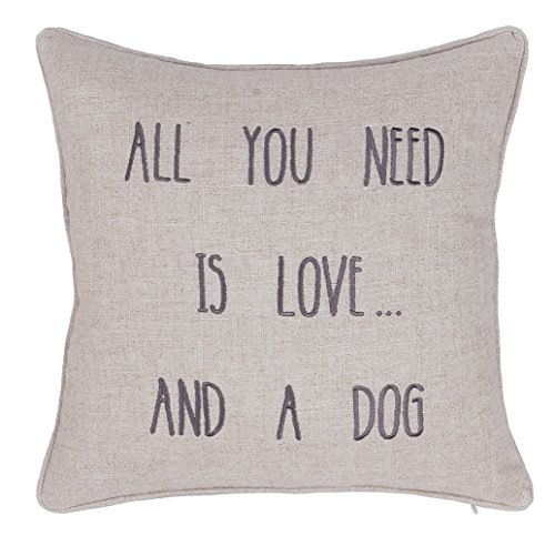 Embroidered Pet Lover Pillow Cover