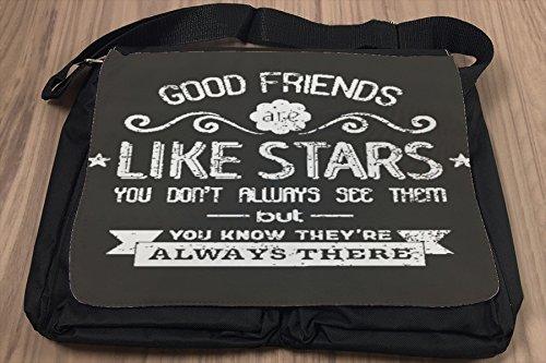 Borsa Tracolla Proverbi Best Friends Stampato