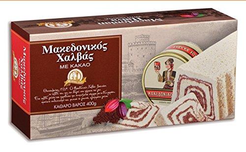 Greek Macedonian Halva with Cocoa 400gr 14.10 Oz by Xaitoglou