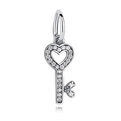 Soulove Symbol Of Trust Key With Clear Cz 925 Sterling Silver Bead