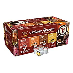 Well-Being-Matters 51zGo7i9EUL._SS300_ Autumn Favorites Variety Pack for K-Cup Keurig 2.0 Brewers, 96 Count, Victor Allen's Coffee Single Serve Coffee Pods