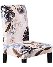 XNN Modern Stretch Dining Chair Covers Removable Washable Spandex Slipcovers for High Chairs 4/6 PCS Chair Protective Covers (C, 4PCS/Set)