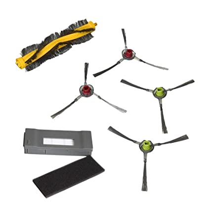 Juego de 7 Filtros de Reemplazo para Aspiradora HEPA para Ecovacs Deebot DM80-KTA Robótico