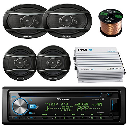Pioneer DEHX-6900BT Car CD MP3 Stereo Player With Bluetooth AM/FM Radio Bundle 2 X 6x9