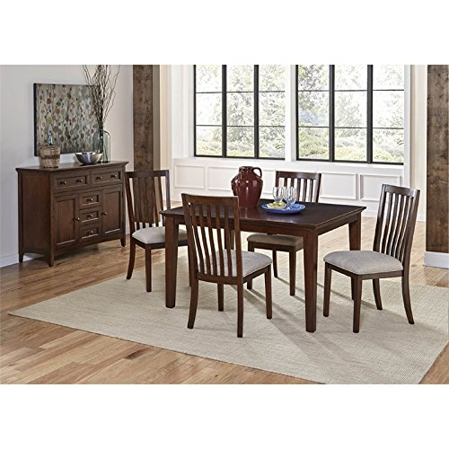 A-America Westlake 6 Piece Extendable Dining Set in Cherry Brown