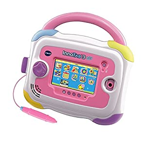 VTech InnoTab 3 Baby Kids Learning Tablet, 4.3-Inch Color Touchscreen, and 2GB Memory, 80147950, Pink (Certified Refurbished)