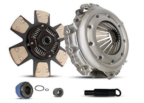 (Clutch Kit Works With Ford Bronco F150-350 Xlt Custom Eddie Base 1993-1996 4.9L l6 5.0L V8 5.8L V8 GAS OHV Naturally Aspirated (5 Speed Trans With Internal Slave Cylinder; 6-Puck Clutch Disc Stage 2))