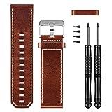 Garmin 010-12168-12 Brown Leather Watch Band, Fenix 3, etc.