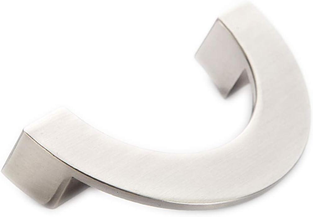 MOOD.SC 3.78 5 Semicircle Drawer Pulls Handle Chrome Silver Knobs Bow Pulls Dresser Pull Black Brushed Nickel Steel Kitchen Cabinet Door Handles 96 128 mm,ChromeSilver,5.0
