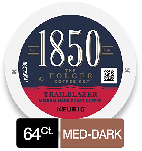 (1850 Trailblazer, Medium-Dark Roast Coffee, K-Cup Pods for Keurig Brewers, 16 Count (Pack of 4))