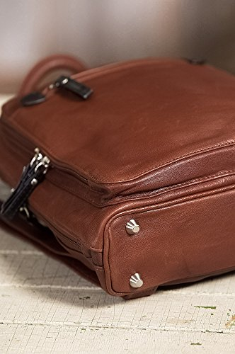 Macy Leather Backpack Purse by Overland Sheepskin Co (Image #6)