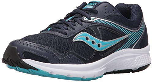 Saucony Women's Cohesion 10 Running Shoe, Navy Blue, 7.5 Medium US