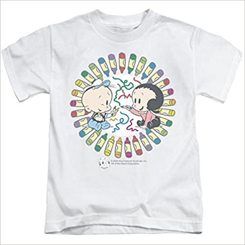 Fun With Crayons Kids T-Shirt Size 5//6 Juvenile Popeye