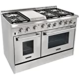 "Tools & Hardware : 48"" 6 Burner Gas Range With Double Oven and Griddle"