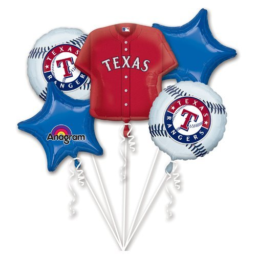 Anagram 32035 Texas Rangers Balloon Bouquet, Multicolored -