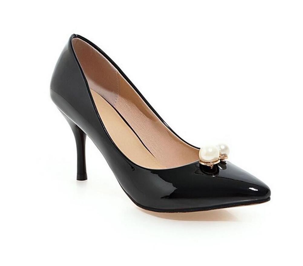 XIE damen 's Court Schuhe Dünn mit High - Heeled Shallow Mund Spitzen Zehe Metall Solide Schuhe