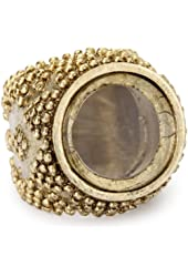 Low Luv by Erin Wasson Gold-Tone Magnifier Ring