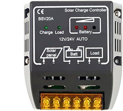 PK Green 20A 12V 24V Solar Charge Regulator Controller for Solar Panels Battery
