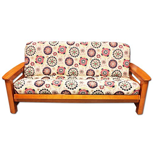 (Lifestyle Exclusives Nautical Floral Luxury Full Size Futon Cover Fits Mattress 54x75 x 6 to 8)