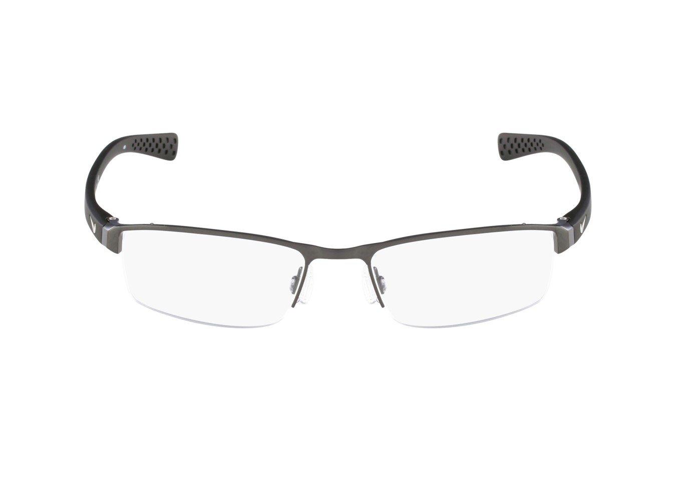 Nike Eyeglasses 8095 060 Brushed Gunmetal Demo 50 17 by NIKE