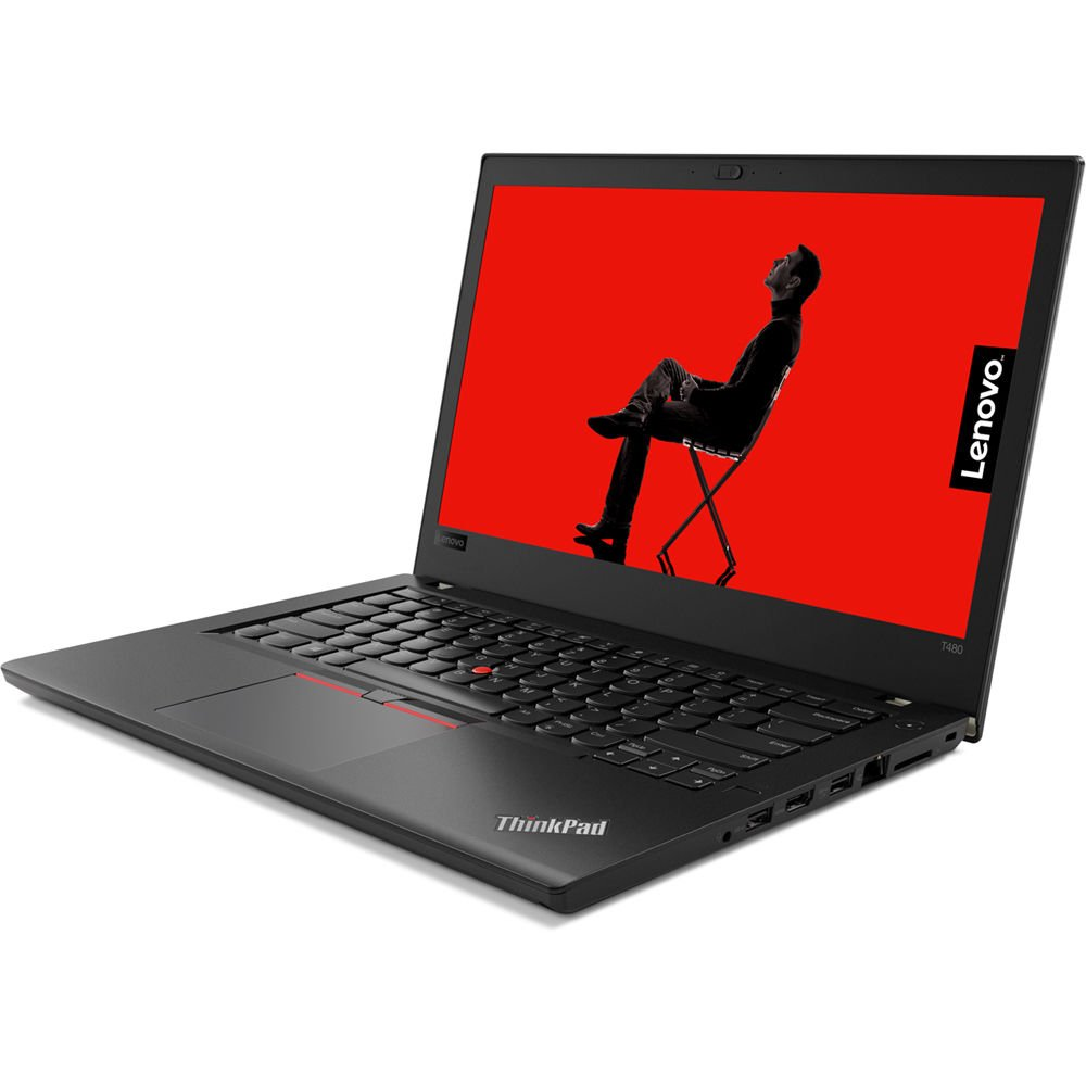 "2019 Lenovo ThinkPad T480 14"" HD Business Laptop (Intel Quad-Core i5-8250U, Fingerprint, Thunderbolt 3 Type-C, WiFi AC, Windows 10 Pro) - Choose from 8GB 16GB 32GB DDR4 RAM, 256GB 500GB 1TB SSD or HDD"