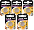 5 x Duracell 2032 3V Lithium Batteries CR2032 DL2032