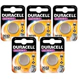 5 x Duracell 2032 3V Lithium Batteries CR2032 DL2032
