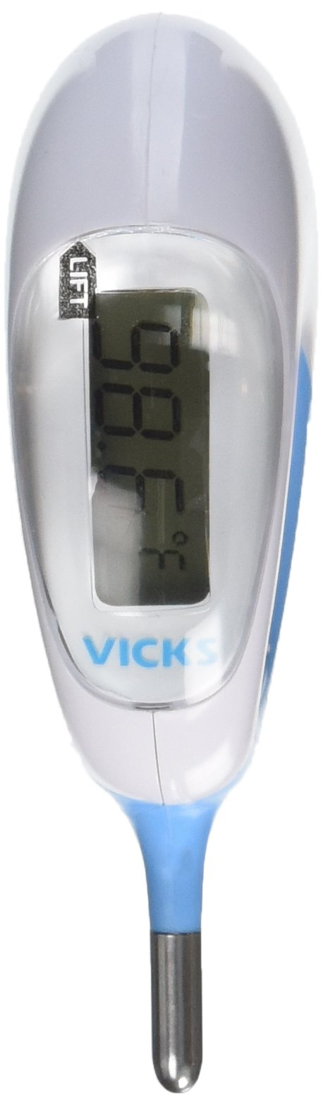 Vicks Baby Rectal Thermometer Baby Thermometer for Rectal Temperature, Short and Flexible Tip with Fast Read Times and Large Digital Display