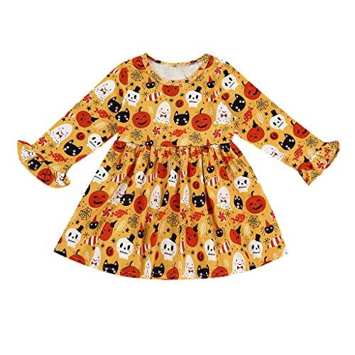 [해외]Toddler Kids Tops Baby Girl Halloween Dress Pumpkin Printed Princess Dress Outfit Clothes / Toddler Kids Tops Baby Girl Halloween Dress Pumpkin Printed Princess Dress Outfit Clothes