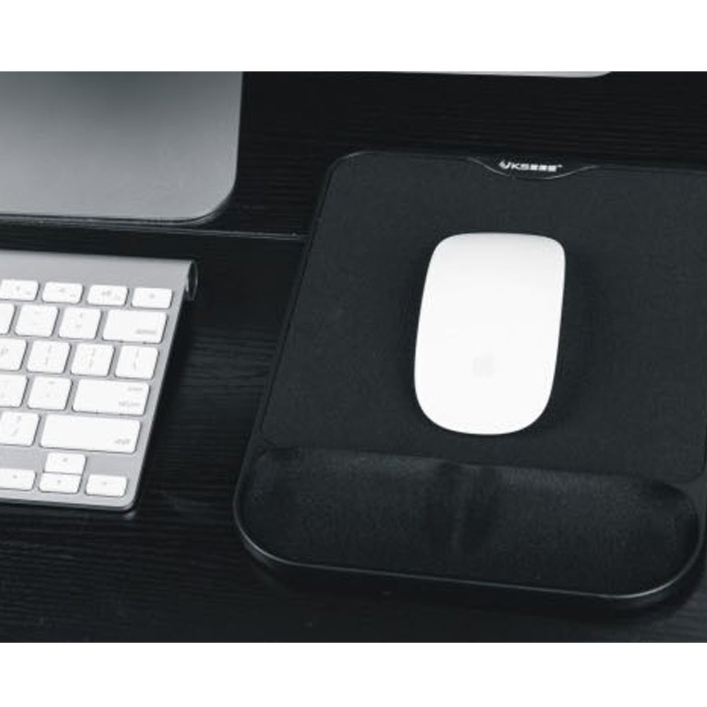 Anti Slip Gel Mouse Mat Pad with Rest Wrist Comfort Support Laptop PC (Blue) FUZADEL