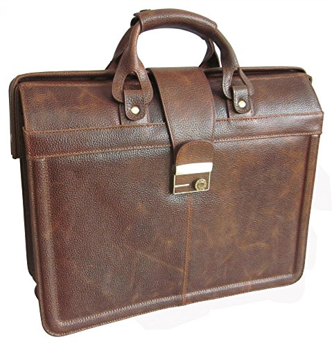 AmeriLeather APC Legal Leather Executive Brief (Waxy Brown) (Cowhide Top Grain Briefcase)