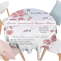 """longbuyer Christmas Tablecloth Invitation Wedding Card with Cherry Sakura Flowers Vector Template Round Tablecloth D 50"""""""