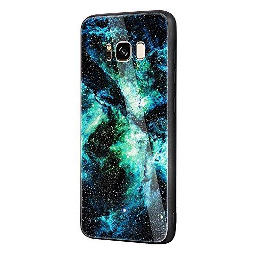 Funda para Samsung Galaxy Note8, Elegante Diseño CLTPY Samsung Note8 Silicona Delgado + Plástico Duro + Cubierta Trasera de Vidrio Resistente a Arañazos Ultra Híbrida Caso para Samsung Galaxy Note8/N9 Universo Verde