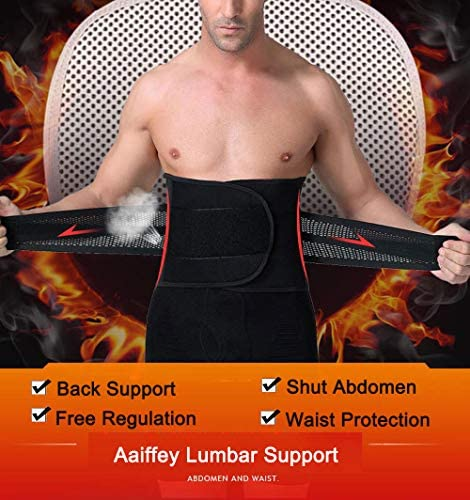 Aaiffey Lower Back Brace - Lumbar Support for Women & Men -Adjustable Compression & Breathable Waist Trainer Belt Weight Loss for Gym, Posture, Pain Relief 4