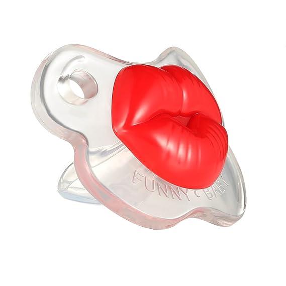 Goolsky Chupete Divertido Sin BPA Silicona Gracioso Besables para Bebé Recién Nacido