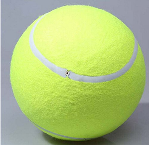 24Cm Giant Tennis Ball Chew Toy Big Inflatable Tennis Ball Signature Pet Toy Ball Supplies Outdoor Cricket BA16797888