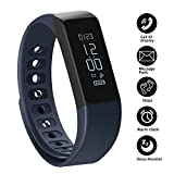 SHONCO Fitness Tracker Pedometer I5 Plus Waterproof Bluetooth Activity Tracker Smart Sports Band Bracelet Wristband with Touch Screen Calories Counter Health Sleep Monitor for iPhone Android Phones
