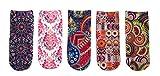 FULIER Women's 3D Print Socks Novelty Ankle Halloween Funny Funky Cute No Show Socks (Color 1)
