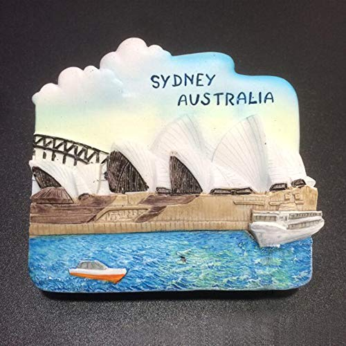 (3D resin strong refrigerator magnet. Australia Sydney Opera House resin refrigerator sticker)