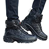 Men's Army Tactical Boots 10 Inch Lightweight Breathable Outdoor Desert Active Ankle Booties (US-5.5 / CN-39, Black)