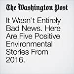 It Wasn't Entirely Bad News. Here Are Five Positive Environmental Stories From 2016. | Brady Dennis,Chris Mooney