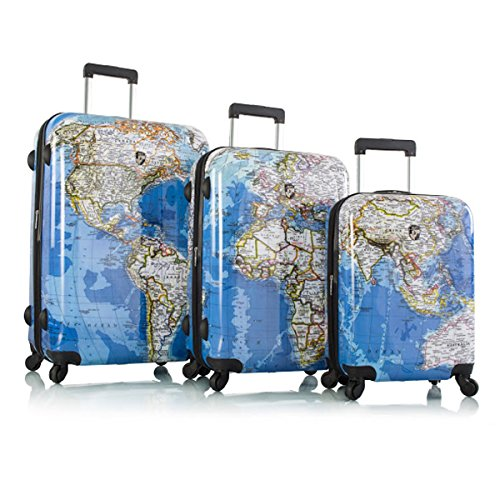 Heys Explore Map Hard Side Spinner Luggage 3pc. Set - 21