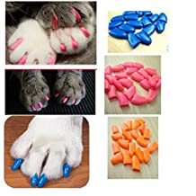 Cat Pet Nail Caps, 120pcs Claw Covers with Soft Durable Material for Cats Control Paws Off (S-M-L, Hot Pink-Blue-Light Pink)