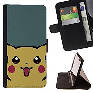 For Sony Xperia Z2 D6502 Pixel Pikachu Beautiful Print Wallet Leather Case Cover With Credit Card Slots And Stand Function