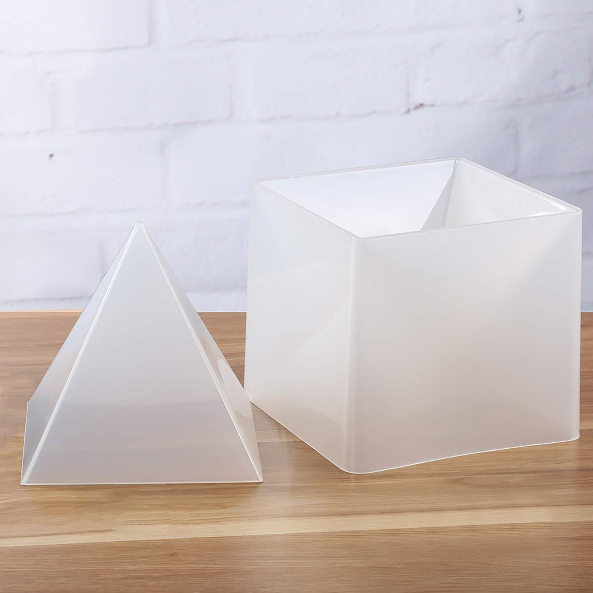 Shengyaju - Molde de silicona piramidal para bisutería, moldura líquida extra grande, 17 x 17 x 16 cm: Amazon.es: Juguetes y juegos