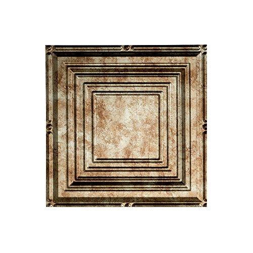 Fasade Easy Installation Portrait Bermuda Bronze Glue Up Ceiling Tile / Ceiling Panel (12