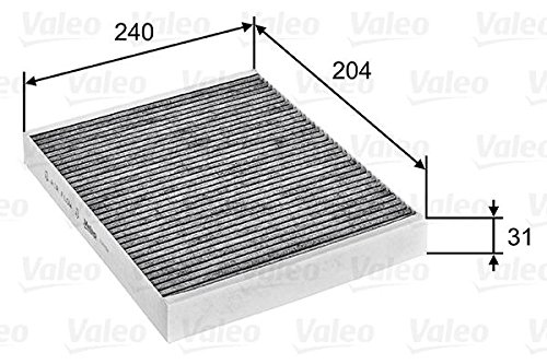 Opel Meriva B Vauxhall Activated Carbon Cabin Air Filter VALEO 2010- by Valeo