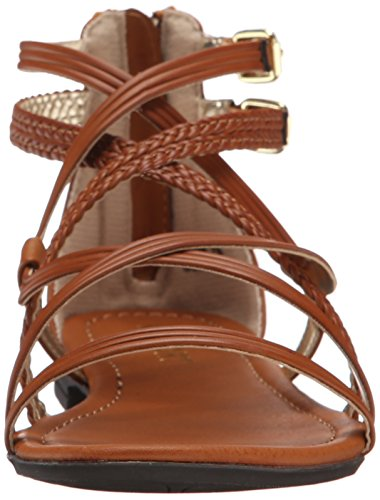 Cognac Report Flat Sandal Women's Georgya nwqBqW8T0