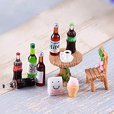 Wayees Miniatures Soda Bottles Dollhouse Accessories Mini Food Wine Bottles for Dolls LPS and LOL Dolls Art Crafting Decoration Kitchen Birthday Cake Topper Prop Christmas Ornament (Pack of 12): Toys & Games